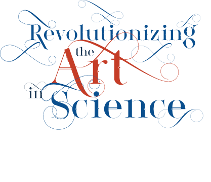 Logo of Revolutionizing the Art in Science in crazy looping script type